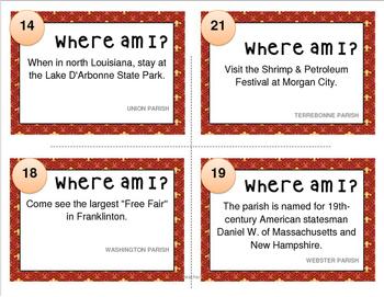 LOUISIANA  Parish Task Cards