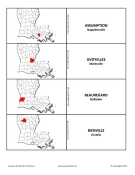 LOUISIANA - Parish/Parish Seats Know-It-All