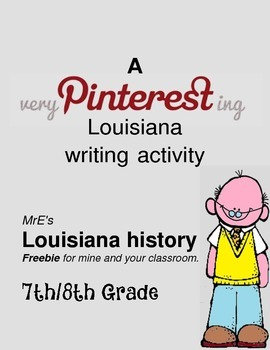 LOUISIANA - Pinterest Writing Activity