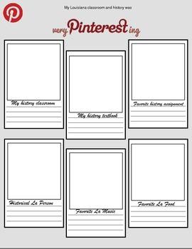 LOUISIANA - Pinterest Writing Activity