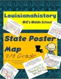 LOUISIANA - Poster Map Project