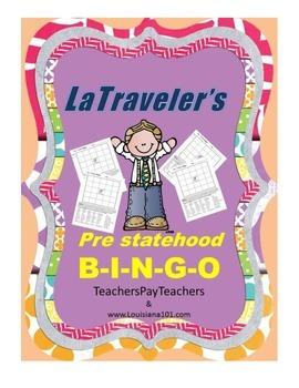 LOUISIANA - Pre statehood B-I-N-G-O