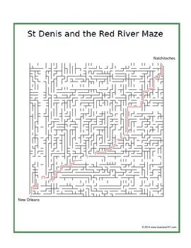 LOUISIANA - Red River Maze