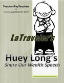 huey long share the wealth speech