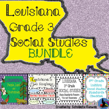 LOUISIANA Social Studies People, Land, Environment, Regions, Standards