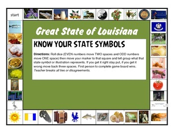 LOUISIANA - State Symbols Game
