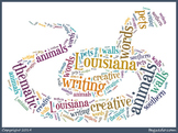 LOUISIANA THEMATIC UNIT ANIMAL WORD CARDS plus blank