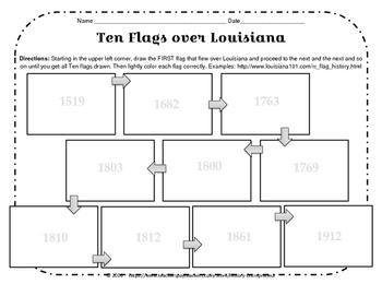 LOUISIANA  Ten Flags Over Louisiana