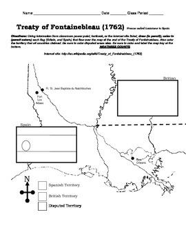 LOUISIANA - Treaty of Fontainebleau 1762