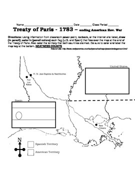 LOUISIANA -  Treaty of Paris 1783