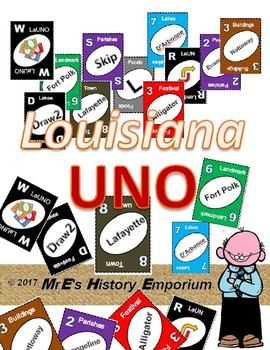 LOUISIANA    UNO Cards