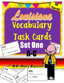 LOUISIANA     Vocab. Task Cards A-C