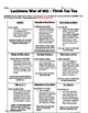 LOUISIANA - Ch. 8 War Of 1812 Activities