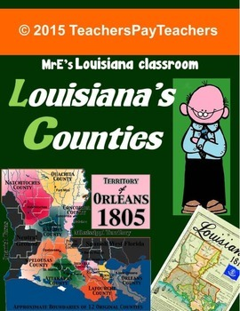 LOUISIANA - We Did Have Counties At One Time