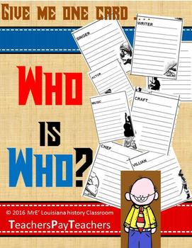 LOUISIANA - Who Is Who Cards