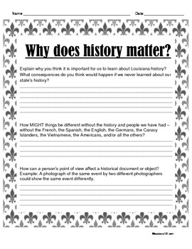 LOUISIANA - Why Does History Matter To US
