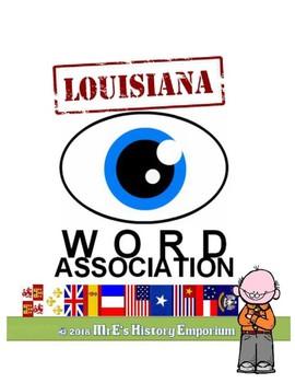 LOUISIANA Word Association Worksheets