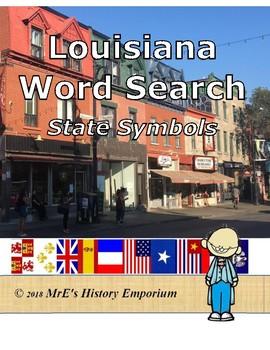 LOUISIANA  Word Search 3rd Grade