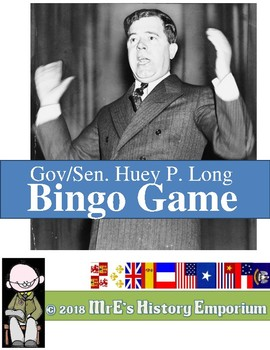 LOUISIANA  - Huey Long BINGO