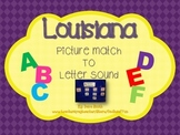 LOUISIANA picture card to beginning letter sound match