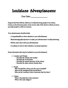 LOUISIANE - Advertisement