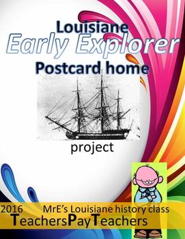 LOUISIANE - Early Explorers Postcards Home