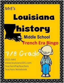 LOUISIANE - Early French Bingo