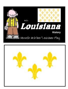 LOUISIANE - Early French Flag & Timeline