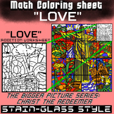 Math Colouring Worksheet (Addition) -Love