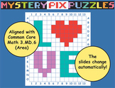 Valentine Math Area Puzzle