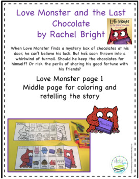 LOVE MONSTER AND THE LAST CHOCOLATE BOOK CRAFT