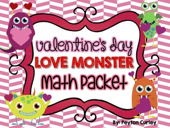 LOVE MONSTER Math Centers for Valentine's Day Fun!