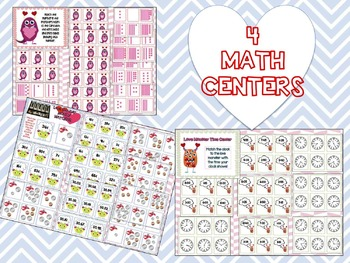LOVE MONSTER Math & Literacy Centers COMBO for Valentine's Day Fun!