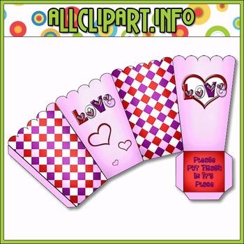 $1.00 BARGAIN BIN - LOVE Printable Popcorn Box