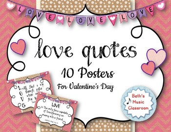 LOVE Quote Posters - for Valentine's Day