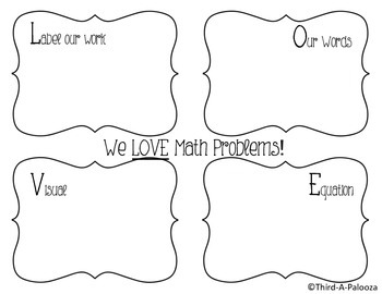 LOVE Strategy Math Mat (For any math problem or grade)