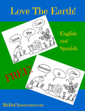 LOVE THE EARTH! Fun Earth Day Printable in English & Spanish Environment
