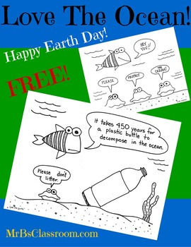LOVE THE OCEAN! Earth Day Printable Posters Save the Environment