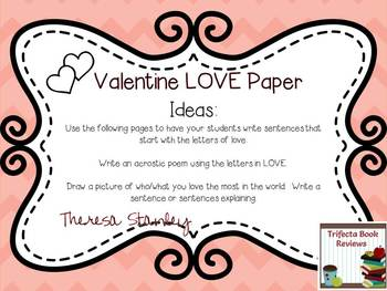 LOVE Valentine Writing Paper