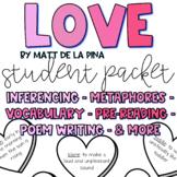 LOVE by Matt De La Pena & Loren Long Book/Poem Companion Packet