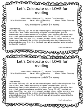 LOVE for Reading- Valentine's Day Celebration!