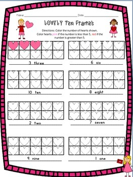 LOVELY ten frames Valentine FREEBIE