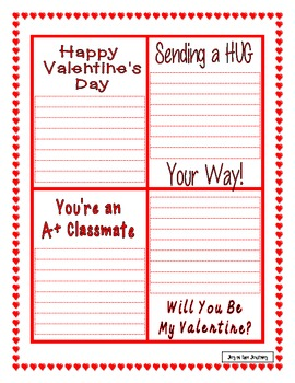 Valentine's Day Language Arts Activities FREE