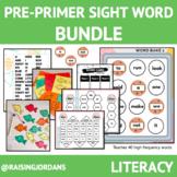 LOW PREP Pre-primer sight word activity bundle