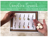 LOW PREP Speech Therapy Activity for Summer: Campfire Speech