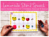 LOW PREP Speech Therapy Activity for Summer: Lemonade Stand Speech