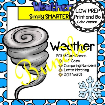 LOW PREP Weather Card Games Bundle