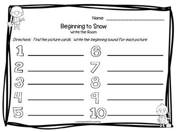 LOW PREP Winter Months Literacy Write the Room Bundle