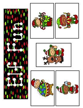 LOWERCASE Letter Identification Game (Elf Theme)