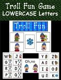 LOWERCASE Letter Identification Game (Winter Trolls)